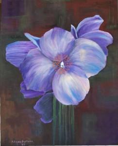 Flor Azul Lila