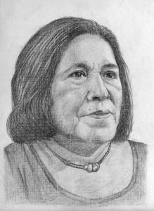 Anita dibujo