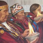 Los pueblos originarios homenajean los 4 elementos